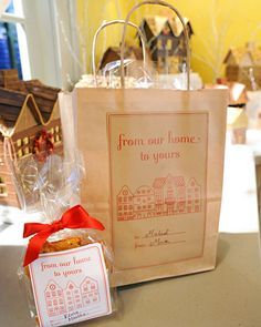 Personalize homemade brittle for friends and family by adorning it with charming…