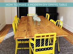How To: Make a Modern DIY Dining Table » Curbly | DIY Design Community