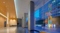 Office Building Lobby, Sculptures, Street, Walkway, Sculpture