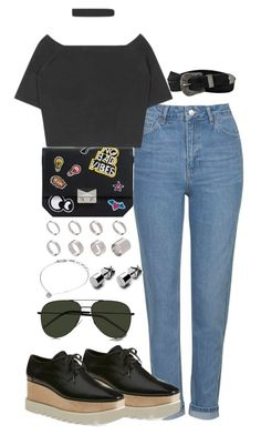"""Untitled #2197"" by theeuropeancloset on Polyvore featuring Topshop, Zara, STELLA McCARTNEY, ASOS, Matthew Calvin, Yves Saint Laurent and AllSaints"