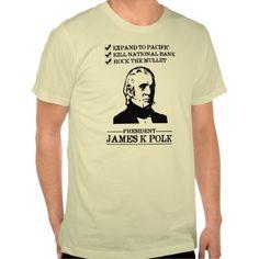 James K Polk #funny #mullet #hair #t-shirt