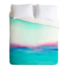 In Your Dreams duvet cover in a whimsical watercolor design. Add a pop of color to your bedroom decor. Available in Twin/Queen/King