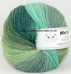 Crystal Palace Yarns Mini Mochi is a slow self-striping fine single ply wool blend yarn Perfect for Baby Socks Lace Scarves and any fine knit