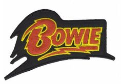 Just In store David Bowie Logo ... check it out at a great price here http://apatchestore.com/products/david-bowie-logo-iron-on-embroidered-patch-4-10cm?utm_campaign=social_autopilot&utm_source=pin&utm_medium=pin