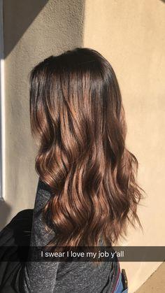 Chocolate balayage ombré hair
