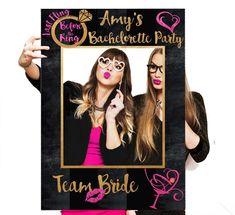 Such a cute photo prop for a bach party! | Ideas For An Unforgettable Bachelorette Party | Kennedy Blue