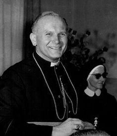 Love this shot of Blessed John Paul II