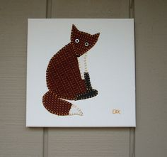 Fox #1 Fabric Wall Art by CottonwoodCove on Etsy