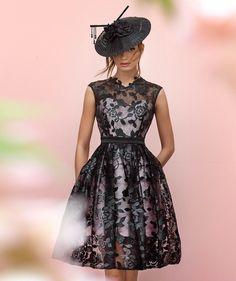Black Floral Lace Dress.