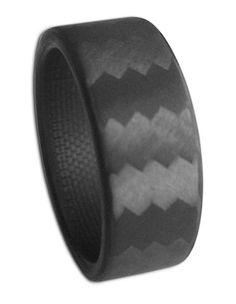100% carbon fiber ring. anniversary present for the hubs!