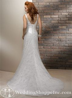 one of my favs back view Bridal Gowns Maggie Sottero  Alaina Bridal Gown Image 1