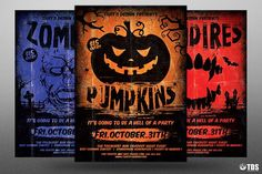 Halloween Flyer Template V4 by Thats Design Store on @creativemarket