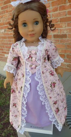 "18"" Doll Clothes Historical Colonial Fancy Dress"