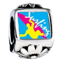 Guy Surfing Yellow Photo Flower Charms  Fit pandora,trollbeads,chamilia,biagi,soufeel and any customized bracelet/necklaces. #Jewelry #Fashion #Silver# handcraft #DIY #Accessory