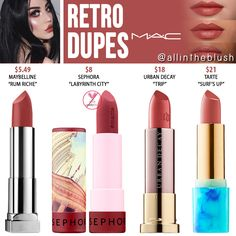 MAC Honeylove Lipstick Dupes - All In The Blush - All Things Beauty - Lipstick Jordana Lipstick Matte, Mac Retro Lipstick, Mac Cosmetics Lipstick, Lipstick Colors, Lip Colors, Matte Lipsticks, Lipstick Shades, Cosmetics Vegan, Best Lipstick Color