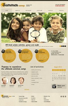 Summer Camp Joomla Templates by Glenn