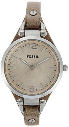 Fossil Damen-Armbanduhr Analog Quarz Leder ES2830