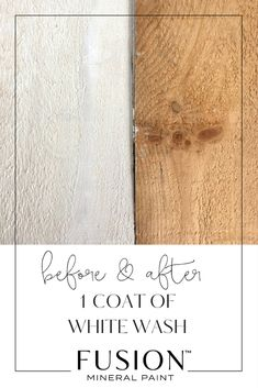 Learn how to white wash wood with Fusion Mineral Paint - this tutorial provides the simple to for how to get this trendy look. Painting Wood Furniture White, White Washed Furniture, Painted Bedroom Furniture, Pine Furniture, Furniture Makeover, Furniture Ideas, Painted Wood Walls, Furniture Logo, Furniture Layout