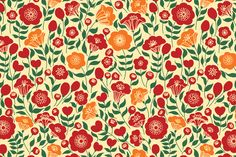 Floral Pattern by Maria Galybina on Creative Market