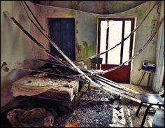 Decaying bedroom in Argos, greece