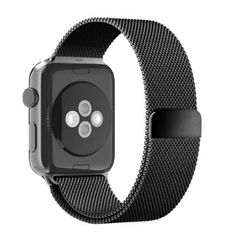 Apple Watch Band, Mayshion Fully Magnetic Closure Clasp Mesh Loop Milanese Stainless Steel Bracelet Strap for Apple Iwatch Sport&edition 42mm Black
