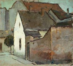 ۩۩ Painting the Town ۩۩ city, town, village & house art - Corneliu Baba - Landscape from Caransebes 1932 Urbane Kunst, Popular Paintings, Love Painting, Urban Art, Landscape Paintings, Landscapes, Oeuvre D'art, Impressionism, Painting Inspiration
