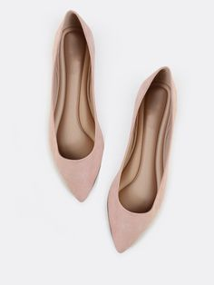 Online shopping for Pointed Toe Pastel Flats BLUSH from a great selection of women's fashion clothing & more at MakeMeChic.COM.  $20.40