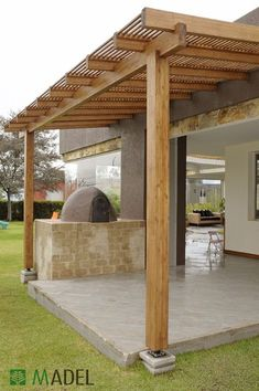 The pergola kits are the easiest and quickest way to build a garden pergola. There are lots of do it yourself pergola kits available to you so that anyone could easily put them together to construct a new structure at their backyard. Pergola Carport, Pergola Canopy, Pergola With Roof, Outdoor Pergola, Wooden Pergola, Backyard Pergola, Pergola Shade, Patio Roof, Pergola Kits