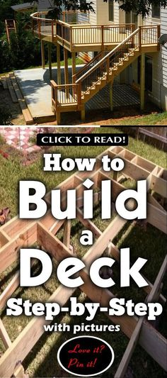 Build Your Deck And Save On The Cost Diy Crafts For Gifts, Diy Home Crafts, Diy Home Decor, Cool Deck, Diy Deck, Capitol Building, Building A Deck, Simple Diy, Easy Diy