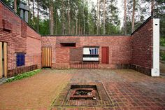 alvar aalto experimental house brick wall - Google Search