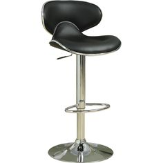 Coaster Contemporary Leatherette Adjustable Bar Stool