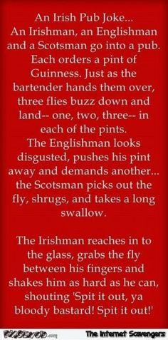 Funny Irish pub joke | PMSLweb