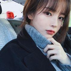 Imagine hwamin, girl, and ulzzang Fringe Hairstyles, Hairstyles With Bangs, Cute Korean, Korean Girl, Korean Beauty, Asian Beauty, Korean Bangs, Asian Bangs, Hwa Min