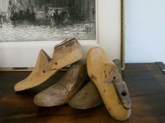 4 Vintage Shoe Lasts  2 from the 40's and 2 by VintageVagabondToo, $33.00
