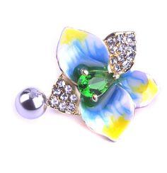 Online Shop Enamel Esmalte Violetta Zircon Flowers Navel Piercing Gold Belly Button Rings Sex Body Jewelry Percing Pircing Bijou Nombril |Aliexpress Mobile