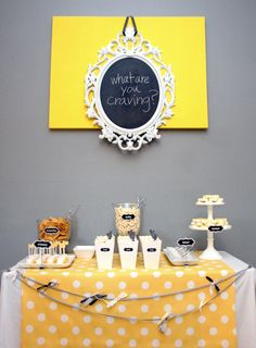 Baby Shower- (we're craving your company invite/ what are you craving food table)