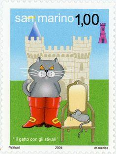 San Marino postage stamp - 2004 (ill. by Maddalena Medas)