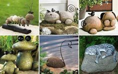 20+ Fabulous DIY Garden Decorating Ideas with Pepples and Stones5