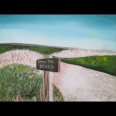 Trail to the Beach painting by Martha's Vineyard Artist Jasmine Thompson.
