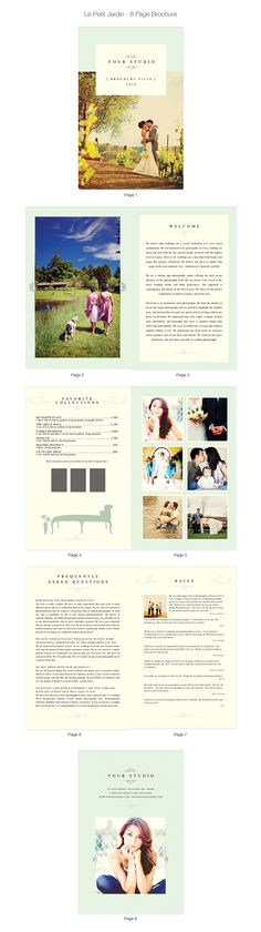 Photographer Template Marketing Set by designbybittersweet - sample wedding brochure