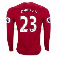 Billige Fodboldtrøjer Liverpool 2016-17 Emre Can 23 Langærmet Hjemmebanetrøje