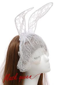 Eyelash Lace Bunny Ears MaskSexy BlindfoldWedding by MaskQueen, $19.99