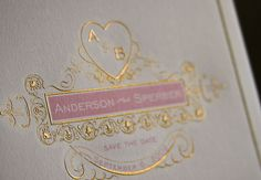 Anderson & Sperber Save the Date | The Beauty of Engraving
