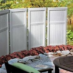 white plastic garden fence panels - Google Search
