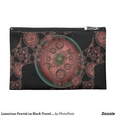 Luxurious Fractal on Black Travel Accessory Bag