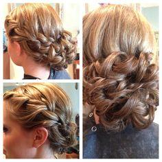 Up Style with braiding done by Kerri @ Pavlova Salon