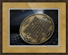 "Patek Philippe Geneve Commemorative Medal Coin // Paper: enhanced matte; Glazing: acrylic; Moulding: dark brown, belmont medium olive; Top Mat: tan, gold bullion; Middle Mat: brown, empire gold; Bottom Mat: white/cream, canvas // Price starts at $202 (Petite: 20"" x 22""). // Customize at http://www.imagekind.com/Patek-Philippe-Geneve-PPG_art?IMID=02d2d878-c1ec-4135-b5f1-3c17e7a5ee8b"