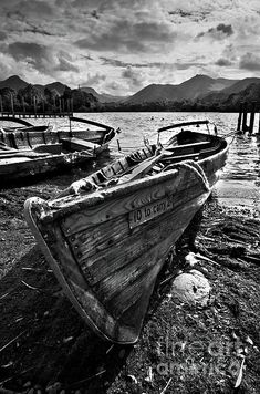 Derwentwater Rowing Boat by Ian Lewis Framed Prints, Canvas Prints, Art Prints, Cumbria, Rowing, Boat, Wall Art, Lakes, Art Impressions