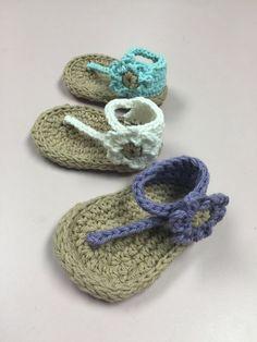 Baby One Strap Sandal Crochet Pattern Immediate PDF by smeckybits