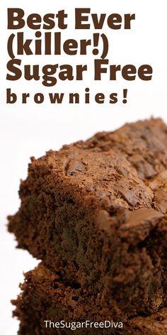 Sugar Free Deserts, Sugar Free Sweets, Sugar Free Candy, Keto Desert Recipes, Low Sugar Recipes, No Sugar Foods, Diabetic Cookies, Diabetic Snacks, Diabetic Recipes